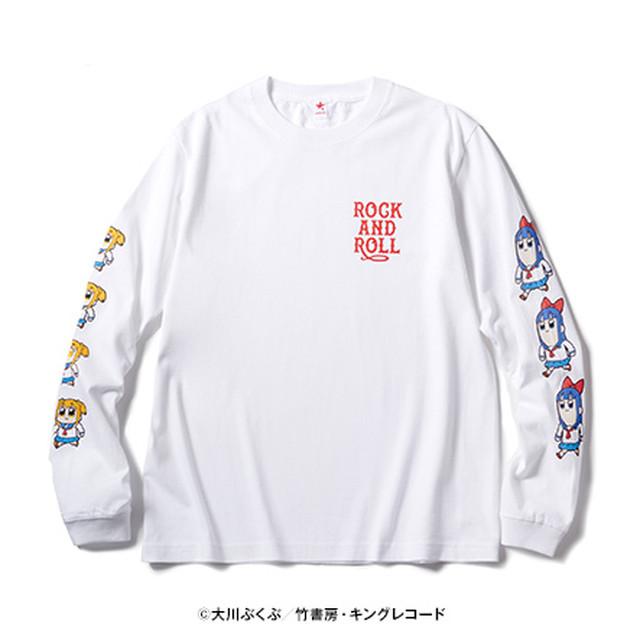 ポプテピピック ロンT ROCK AND ROLL  / rockin'star ( ロッキンスター )