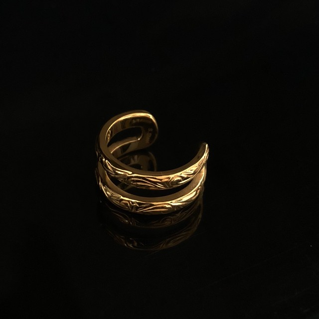 8/27発送 24kgp Hawaiian jewelry ring(double)