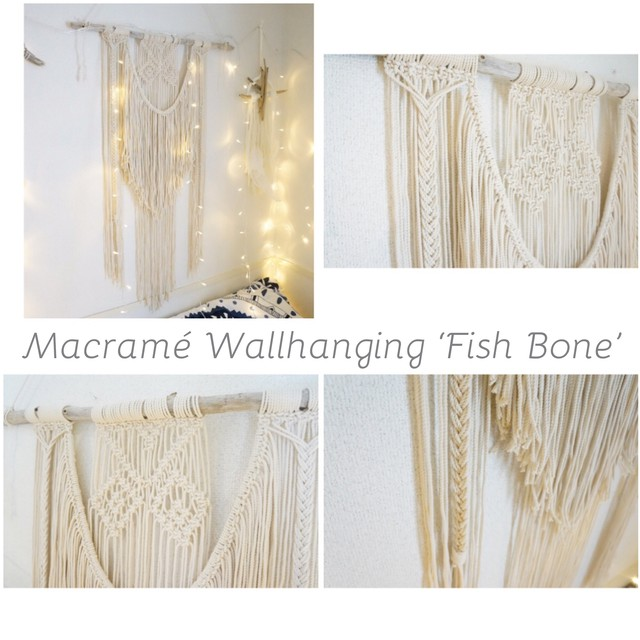 Macramé Wallhanging 'Fish Bone'