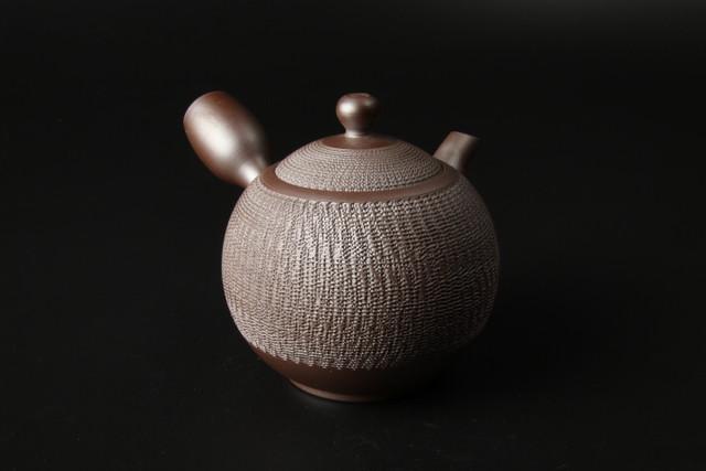 紫泥丸形ビリ急須 萬古焼(53011)