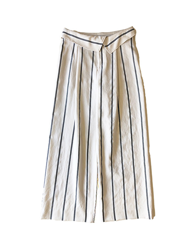 Stripe wide pants Off white /  C+