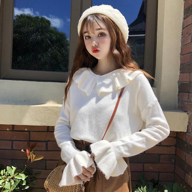 【送料無料】袖がかわいい♡ フリル ニット トップス