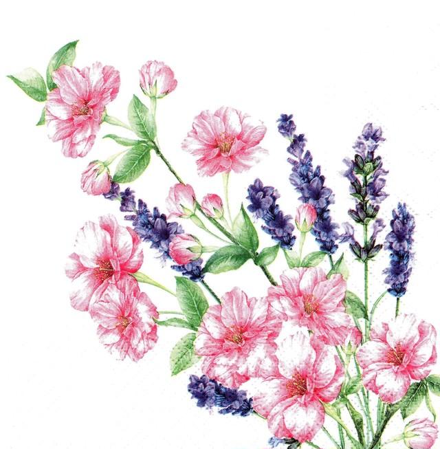 【TETE a TETE】バラ売り2枚 ランチサイズ ペーパーナプキン GENTLE BOUQUET ホワイト