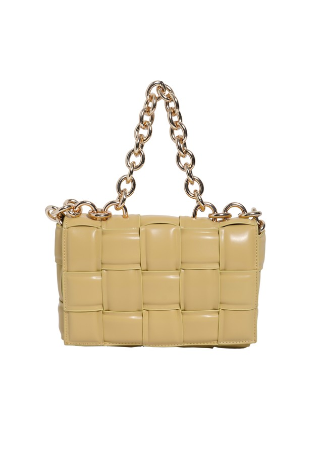 quilting leather chain bag  (yellow)5/10ch-2