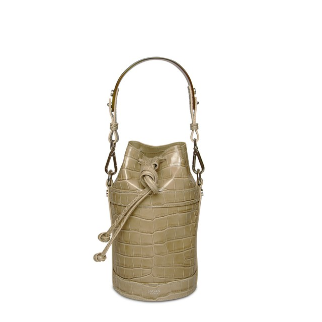 BUCKET BAG NANO BEIGE HORN