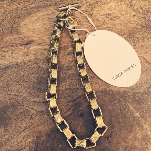 FUMIE TANAKA-metal short necklace