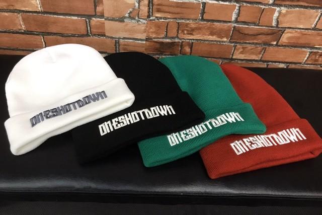 ONESHOTDOWN NEW アルファベット ニット帽