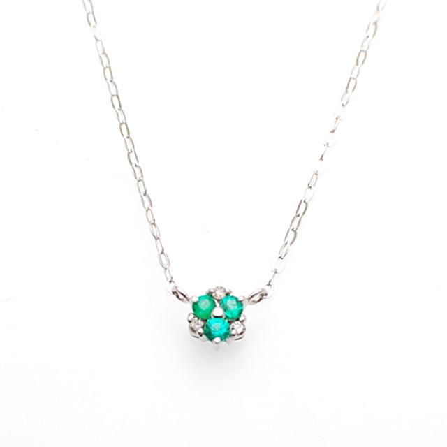 K18 ダイヤモンド プチネックレス