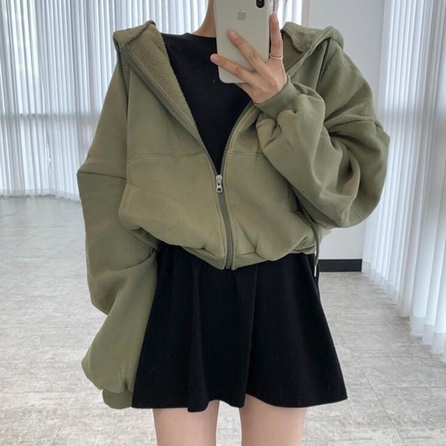 フード付き パーカー   韓国ファッション   SHW561301