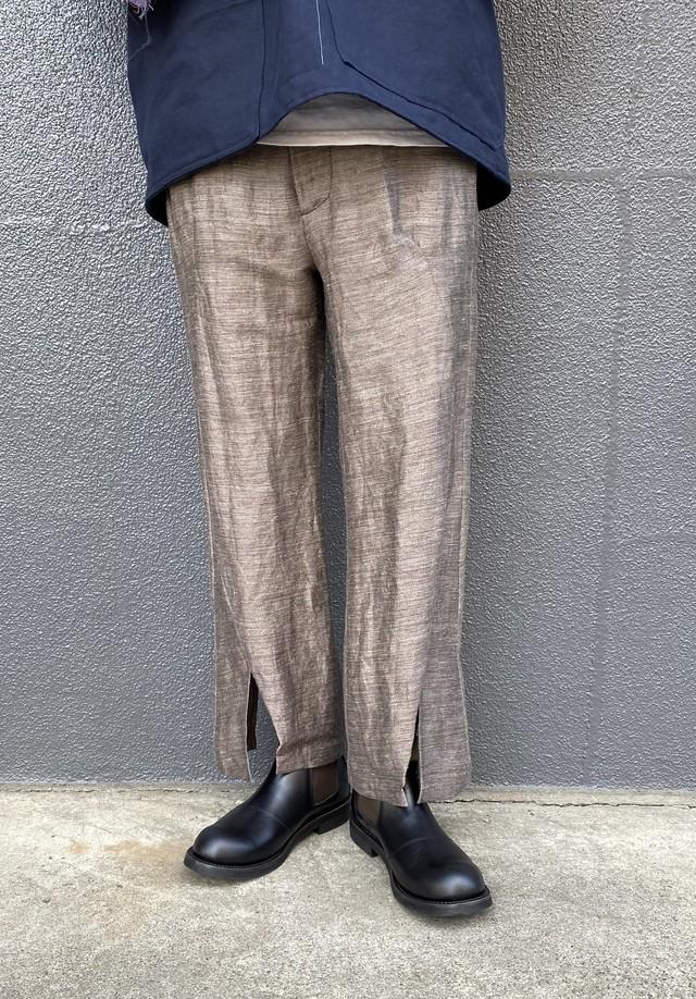 amachi. / Contour Line Flare Pants (Clay Brown)