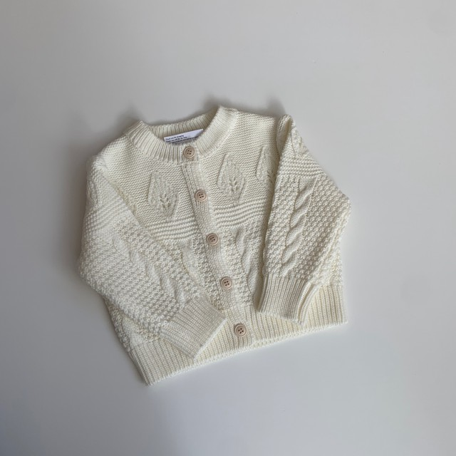 046. leaf knit cardigan