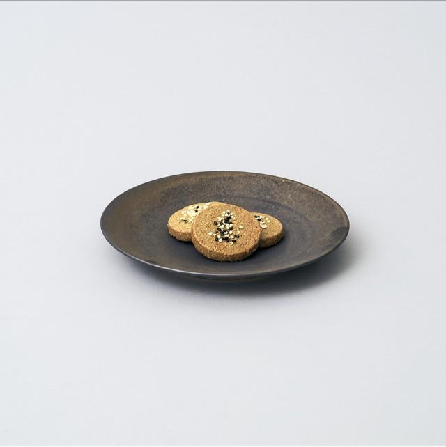 輪花皿 21cm  (ターコイズブルー釉)