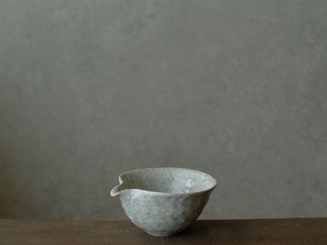 鶴見宗次 片口小鉢(白)