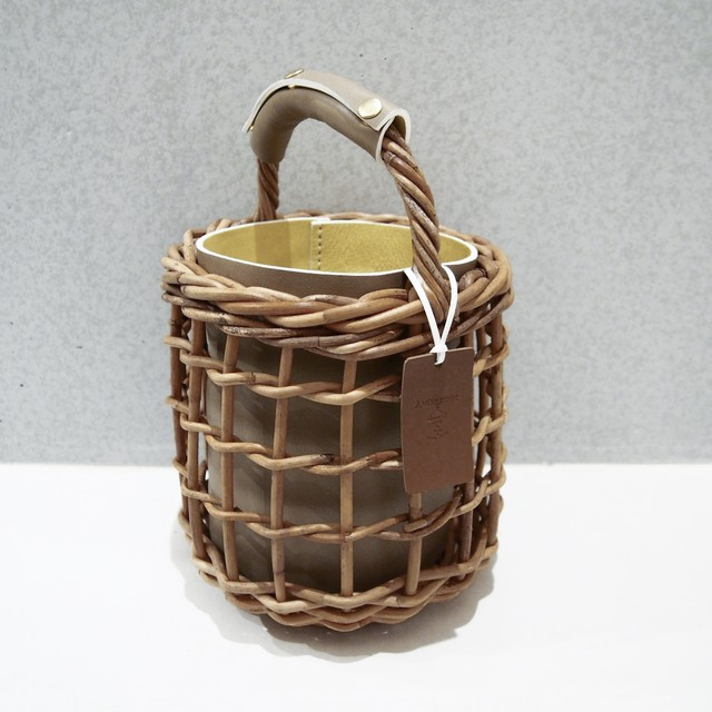 [ 20SS Collection ]  Reversible mode Basket  #Greige×Yellow