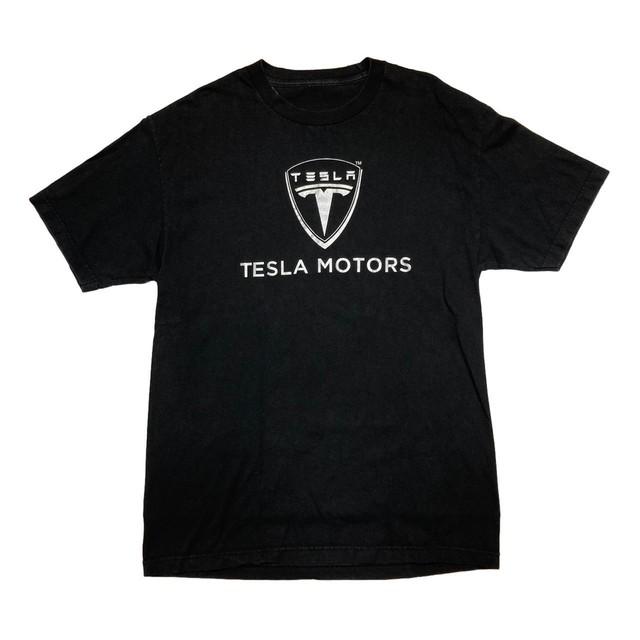 TESLA MOTORS LOGO TEE BLACK FIT LIKE XL 7336