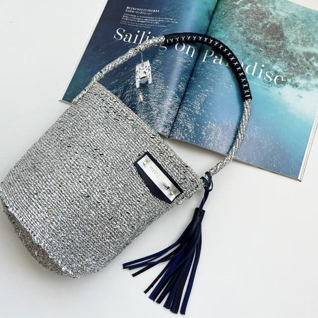 ECO TOTE shoulder bag / SILVER MIX / パーニュ巾着付