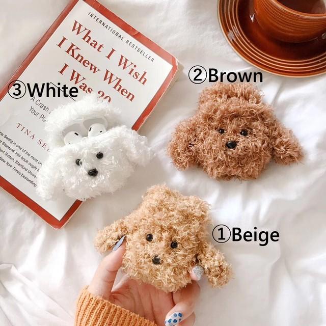 【オーダー商品】Poodle fur airpods case