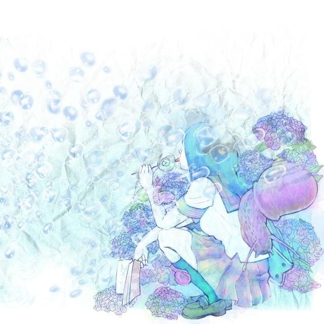 絵画 絵 ピクチャー 縁起画 モダン シェアハウス アートパネル アート art 14cm×14cm 一人暮らし 送料無料 インテリア 雑貨 壁掛け 置物 おしゃれ イラストレーター 水 泡 ロココロ 画家 : 黄色いもみじ 作品 : 水の泡