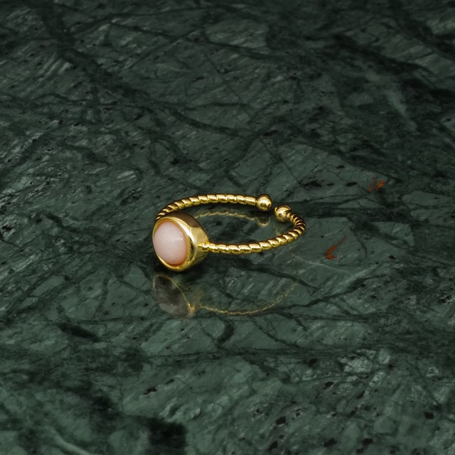 SINGLE MINI STONE RING GOLD 017