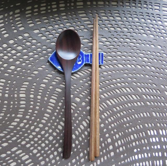 おさかな カトラリーレスト 青