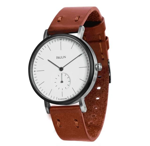ポーリン コミューター  腕時計 ホワイト/ブラウン TO100A-BR-B