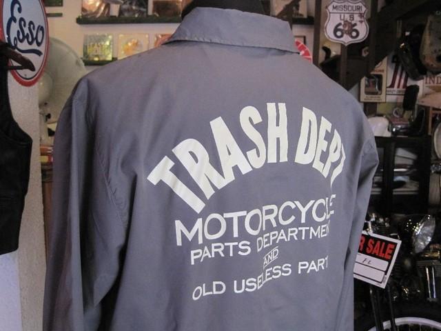 TRASH DEPT オリジナルコーチジャケット グレー