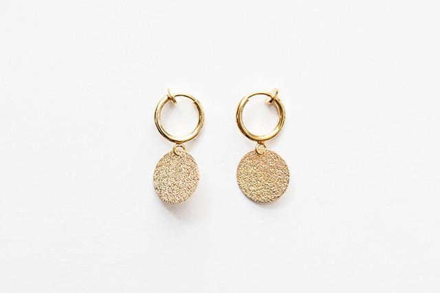 sparkle plate earring