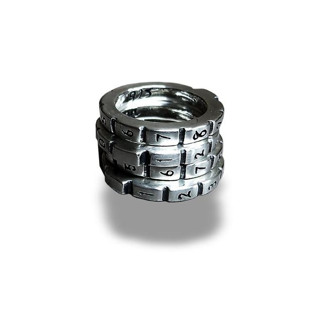 【送料無料】Number Security Ring (価格/1連)【品番 15A2006】