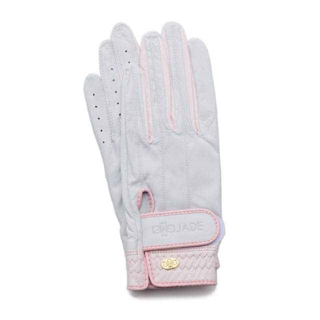 Elegant Golf Glove white-pink
