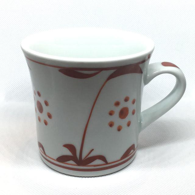 【砥部焼/梅山窯】マグカップ・反り(三つ紋)