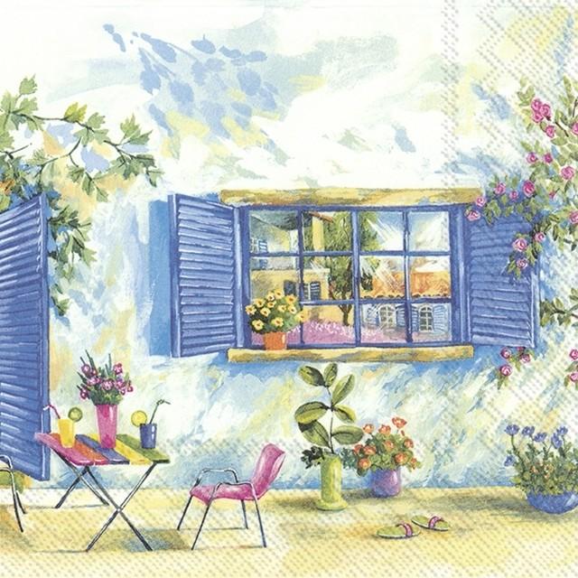 【IHR】バラ売り2枚 ランチサイズ ペーパーナプキン TOSCANA HOLIDAY マルチカラー
