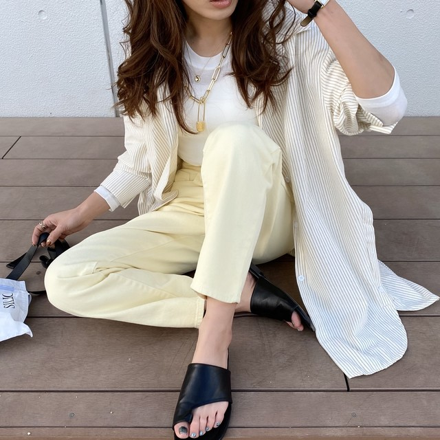 ✔︎Candycolorストレートラフjeans/yellow