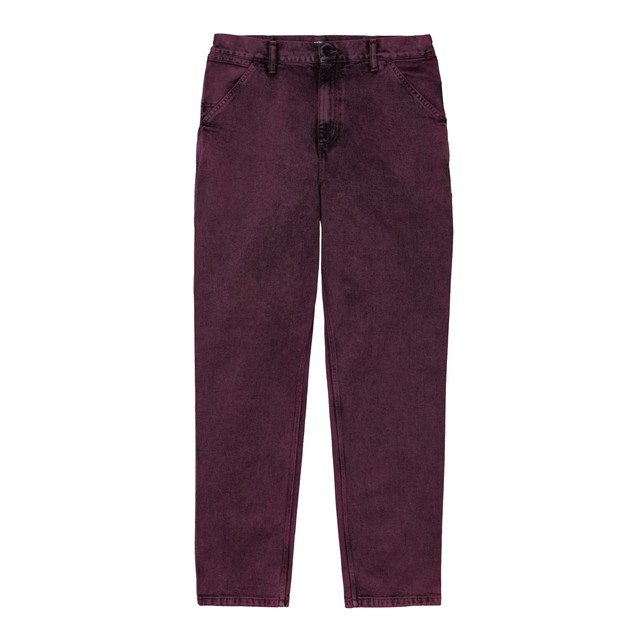 CARHARTT WIP SINGLE KNEE PANT SHIRAZ (crater wash denim)