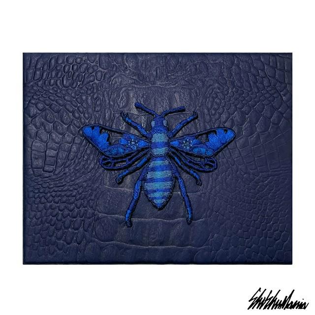 Yuta Okudaコラボ蜂刺繍パネル【横振り刺繍】