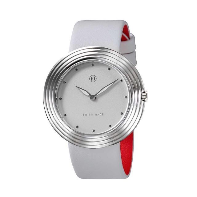 B002-01 Nove ストリームライナー スイス製 腕時計 Women  White Silver