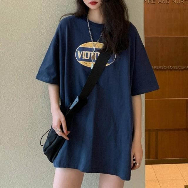 【トップス】カジュアルゆるリラックスアルファベットプリントTシャツ43176304