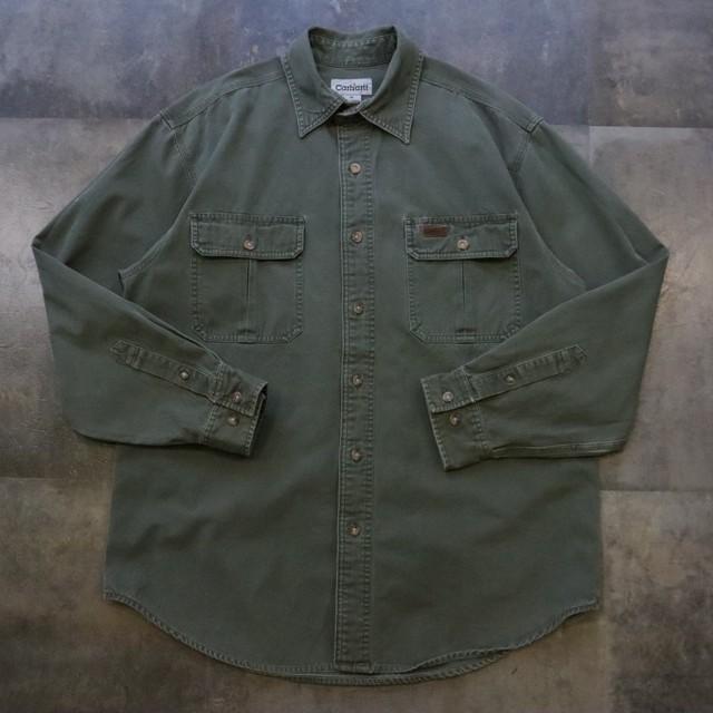 Carhartt khaki work shirt
