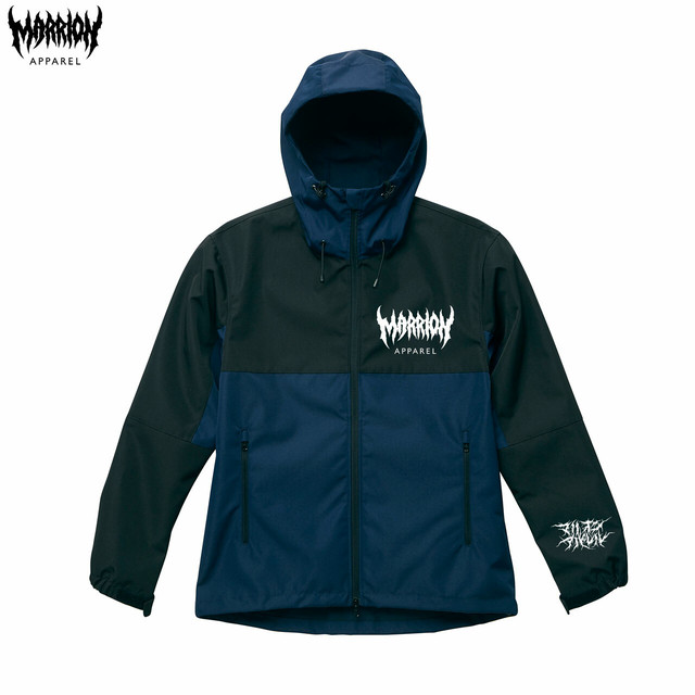 MARRION APPAREL LOGO シェルパーカー 2018  (Navy)