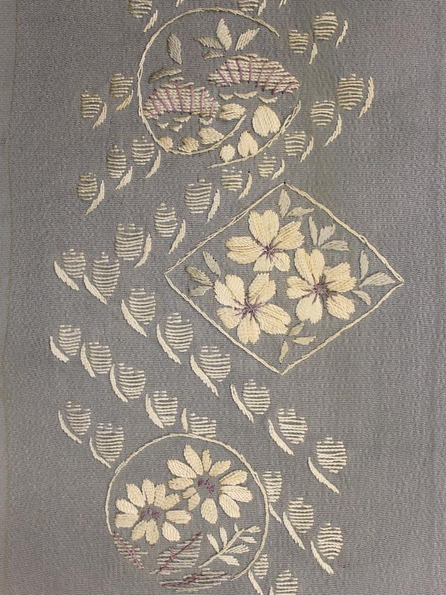 桜・小菊・松 刺繍半襟