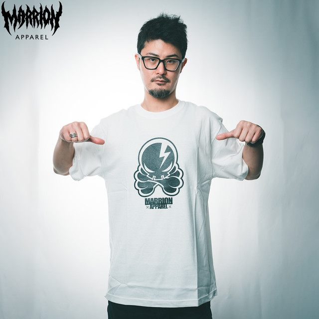 【Cotton100%】OCTOPUS SKULL Tee (White)