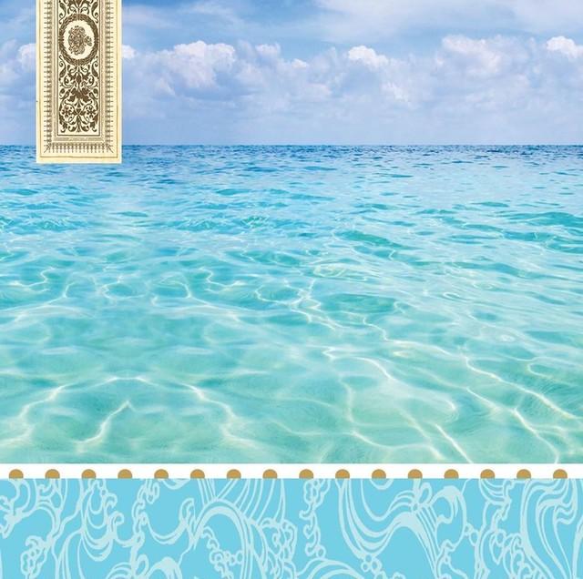 【MICHEL DESIGN WORKS】バラ売り1枚 ランチサイズ ペーパーナプキン BEACH ブルー