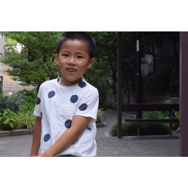 simva Kids 504-0021 W-Pocket S/S ハリネズミドット柄 T-shirt 2019