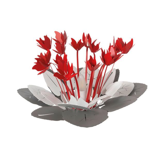 チクラミニオ ランプ スレート、ホワイト&レッド Arti & Mestieri社