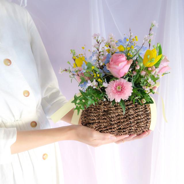 spring pastel arrangement 桜 パステル 春 アレンジメント ギフト プレゼント
