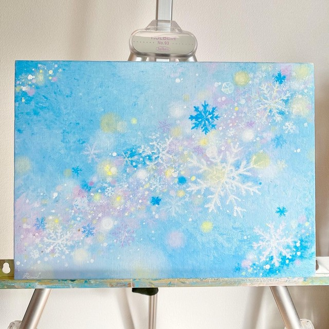 "原画 ""Magical snow flakes"""