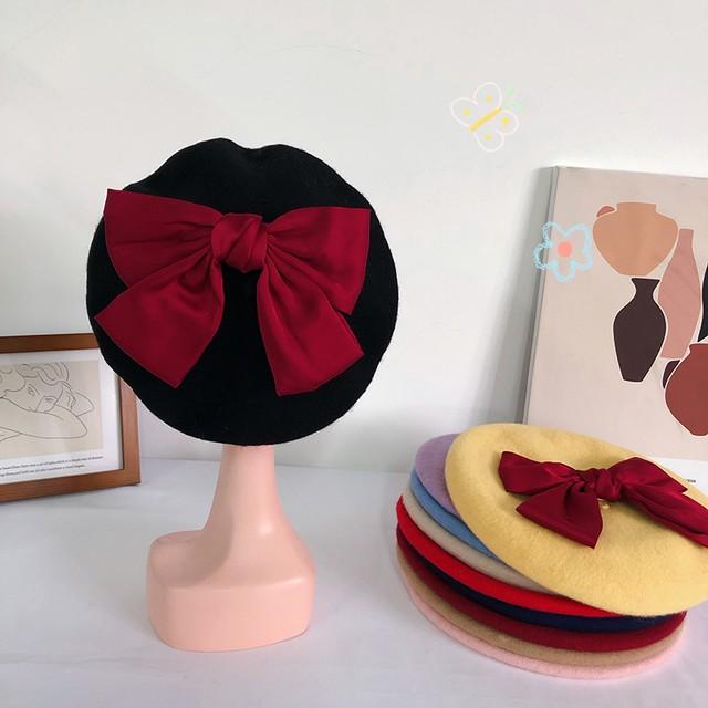【小物】 配色 スウィート  キュート リボン 組み合わせやすい 帽子 43315063