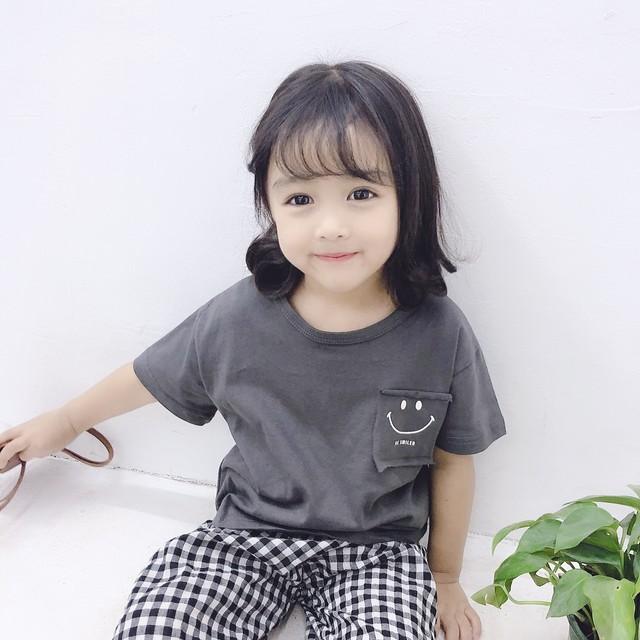 ≪特別セール中!≫送料無料♡韓国子供服 スマイル シンプルトップス サイズ80~120