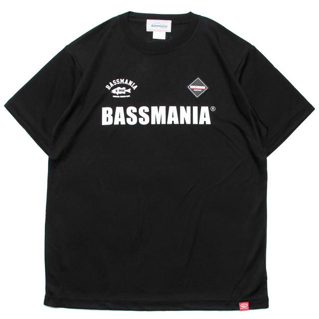 BASSMANIAロゴシリコンワッペンUV dry Tシャツ [BLK]