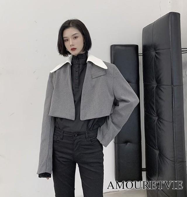 ジャケット アウター カジュアル レディース メンズ ユニセックス ピープス 原宿 オルチャン 韓国ファッション 1148