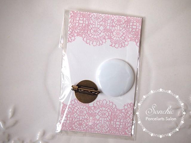 【白磁】 ブローチ作成セット (ポーセリンアート・ポーセラーツ 丸白磁)